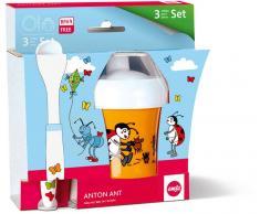 EMSA Kindergeschirr Baby-Set ANTON ANT 3-teilig, Schale, Futterlöffel, Trinklernbecher  Baby-Set (509106)