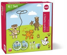EMSA Kindergeschirr Starter-Set FARM FAMILY 6-teilig  Starter-Set (509096)