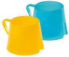 Vital Baby Steady Cups  Steady Cup, Trinklerntassen, 2 Stück, blau/gelb