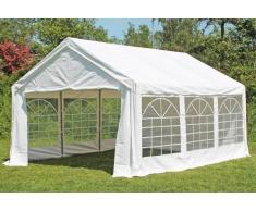 Stabilezelte Partyzelt Pavillon 4x5m Classic Premium PVC wasserdicht weiß
