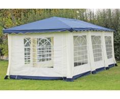 Stabilezelte Pavillon 3x6m blau Polyester / PVC Gartenpavillon DeLuxe wasserdicht