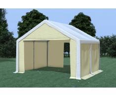 Stabilezelte Partyzelt Pavillon 4x4m Modular Pro PVC wasserdicht weiß / beige