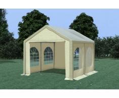 Stabilezelte Partyzelt Pavillon 3x4m Modular Pro PVC wasserdicht braun / beige