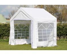 Stabilezelte Partyzelt Pavillon 3x2m Classic Premium PVC wasserdicht weiß
