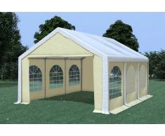 Stabilezelte Partyzelt Pavillon 4x6m Modular Pro PVC wasserdicht weiß / beige