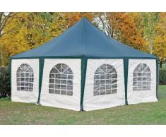 Stabilezelte Pavillon 5x5m grün / weiß PVC Pagodenzelt Arabica Profi wasserdicht