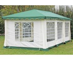 Stabilezelte Pavillon 3x6m grün Polyester / PVC Gartenpavillon DeLuxe wasserdicht