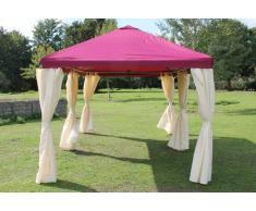Stabilezelte Pavillon 3x6m bordeaux Polyester Gartenpavillon Sahara wasserdicht
