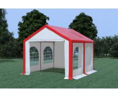 Stabilezelte Partyzelt Pavillon 3x4m Modular Pro PVC wasserdicht rot / weiß