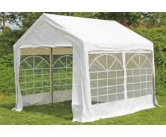 Stabilezelte Partyzelt Pavillon 3x3m Classic Premium PVC wasserdicht weiß
