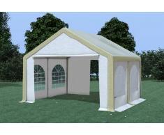 Stabilezelte Partyzelt Pavillon 4x4m Modular Pro PVC wasserdicht braun / weiß
