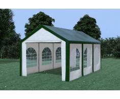 Stabilezelte Partyzelt Pavillon 3x6m Modular Pro PE wasserdicht grün / weiß