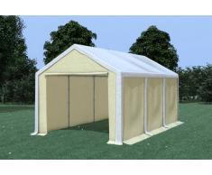 Stabilezelte Partyzelt Pavillon 3x6m Modular Pro PVC wasserdicht weiß / beige