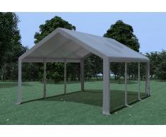 Stabilezelte Partyzelt Pavillon 4x6m Modular Pro PVC wasserdicht grau