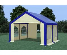 Stabilezelte Partyzelt Pavillon 4x4m Modular Pro PVC wasserdicht blau / beige