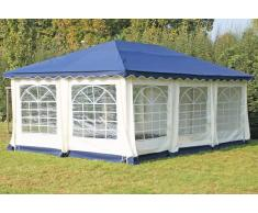 Stabilezelte Pavillon 4x6m blau Polyester / PVC Gartenpavillon DeLuxe wasserdicht