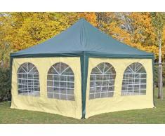 Stabilezelte Pavillon 4x4m grün / beige PVC Pagodenzelt Arabica Profi wasserdicht