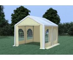 Stabilezelte Partyzelt Pavillon 3x4m Modular Pro PVC wasserdicht weiß / beige