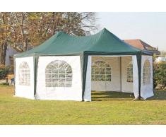 Stabilezelte Pavillon 5x6,8m grün / weiß PVC Pagodenzelt Arabica Profi wasserdicht