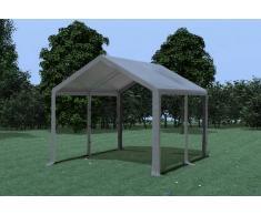 Stabilezelte Partyzelt Pavillon 3x4m Modular Pro PVC wasserdicht grau
