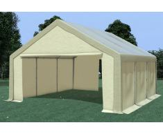 Stabilezelte Partyzelt Pavillon 5x6m Modular Pro PVC wasserdicht braun / beige