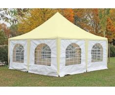 Stabilezelte Pavillon 5x5m beige / weiß PVC Pagodenzelt Arabica Profi wasserdicht