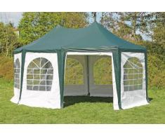 Stabilezelte Pavillon 4x5,5m grün / weiß PVC Pagodenzelt Arabica Profi wasserdicht