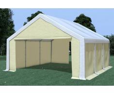 Stabilezelte Partyzelt Pavillon 5x6m Modular Pro PVC wasserdicht weiß / beige