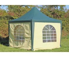 Stabilezelte Pavillon 3x3m grün / beige PVC Pagodenzelt Arabica Profi wasserdicht
