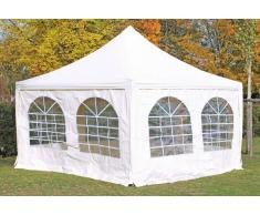 Stabilezelte Pavillon 4x4m weiß PVC Pagodenzelt Arabica Profi wasserdicht