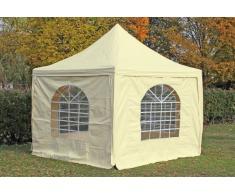 Stabilezelte Pavillon 3x3m beige PVC Pagodenzelt Arabica Profi wasserdicht