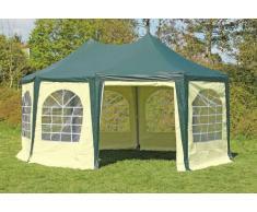 Stabilezelte Pavillon 4x5,5m grün / beige PVC Pagodenzelt Arabica Profi wasserdicht
