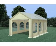 Stabilezelte Partyzelt Pavillon 3x6m Modular Pro PVC wasserdicht braun / beige