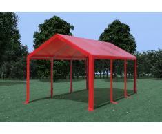 Stabilezelte Partyzelt Pavillon 3x6m Modular Pro PVC wasserdicht rot