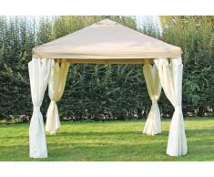 Stabilezelte Pavillon 3x3m braun Polyester Gartenpavillon Sahara wasserdicht