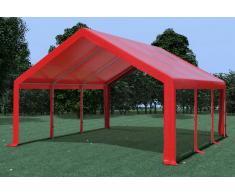 Stabilezelte Partyzelt Pavillon 5x6m Modular Pro PVC wasserdicht rot