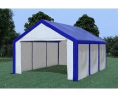 Stabilezelte Partyzelt Pavillon 4x6m Modular Pro PE wasserdicht blau / weiß
