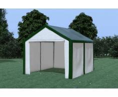 Stabilezelte Partyzelt Pavillon 3x4m Modular Pro PE wasserdicht grün / weiß