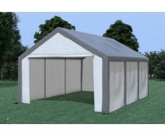 Stabilezelte Partyzelt Pavillon 4x6m Modular Pro PE wasserdicht grau / weiß