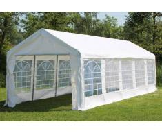 Stabilezelte Partyzelt Pavillon 4x10m Classic Pro PE wasserdicht weiß
