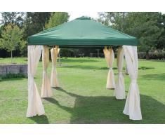 Stabilezelte Pavillon 3x6m grün Polyester Gartenpavillon Sahara wasserdicht