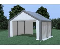 Stabilezelte Partyzelt Pavillon 4x4m Modular Pro PVC wasserdicht grau / weiß