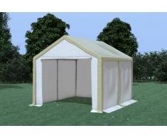 Stabilezelte Partyzelt Pavillon 3x4m Modular Pro PVC wasserdicht braun / weiß