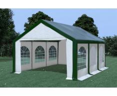 Stabilezelte Partyzelt Pavillon 4x6m Modular Pro PVC wasserdicht grün / weiß