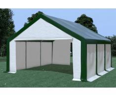 Stabilezelte Partyzelt Pavillon 5x6m Modular Pro PVC wasserdicht grün / weiß