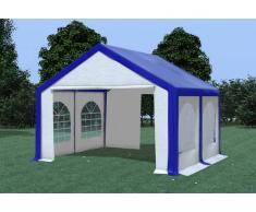 Stabilezelte Partyzelt Pavillon 4x4m Modular Pro PVC wasserdicht blau / weiß