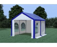 Stabilezelte Partyzelt Pavillon 3x4m Modular Pro PVC wasserdicht blau / weiß