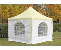 Stabilezelte Pavillon 3x3m beige / weiß PVC Pagodenzelt Arabica Profi wasserdicht