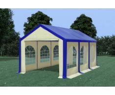 Stabilezelte Partyzelt Pavillon 3x6m Modular Pro PVC wasserdicht blau / beige