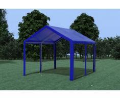Stabilezelte Partyzelt Pavillon 3x4m Modular Pro PE wasserdicht blau